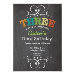 Chalkboard Birthday Invitation