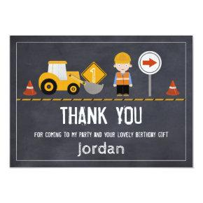 Chalkboard Under Construction Thank You Card