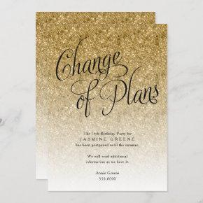 Change of Plans, Gold Glitter Ombre Announcement