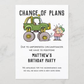 Change Of Plans Party Cancellation Postpone Humor Invitation