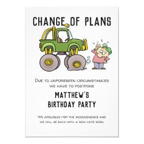 Change Of Plans Party Cancellation Postpone Humor Invitation
