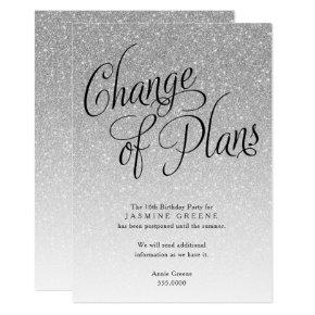 Change of Plans, Silver Glitter Announcement