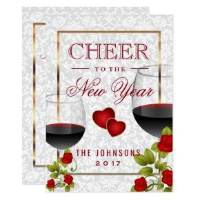 cheer to the new year celebration invitation