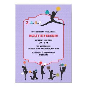 Cheerleader Silhouette Invitation
