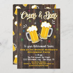 Cheers and Beers Retirement Party Invitation
