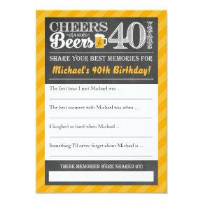 Cheers and Beers to 40 Years • Share a Memory Card