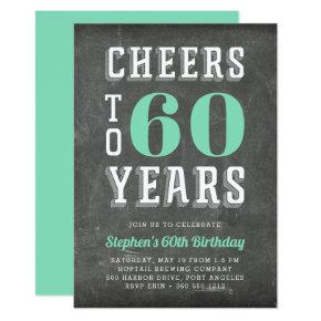 Cheers Milestone Birthday Party Invitations | Green