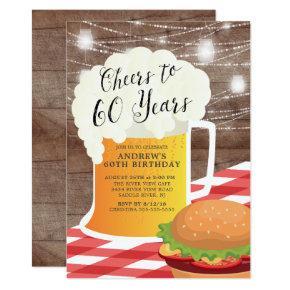 Cheers to 60 Years 60th Birthday Invitation