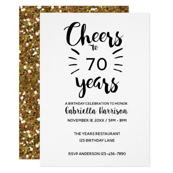 Cheers To 70 Years