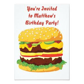 Cheeseburger Party Invitation Invitation