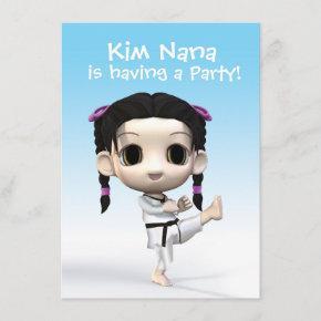 Chibi Taekwondo Invitation