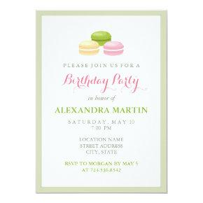 Chic french macaron birthday party card candied clouds chic french macaron birthday party invitation stopboris Images