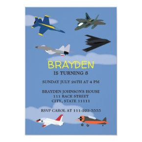 Children's Airplane Birthday Invitation