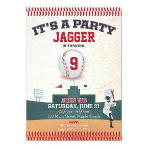 Children's Birthday Invitations (baseball)