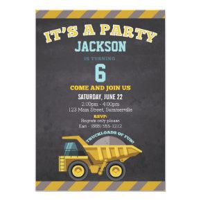 Children's Birthday Invitations (construction)