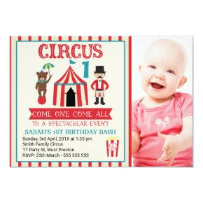 Childrens Circus Birthday Party Invitation