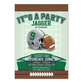Children's Football Birthday Invitations