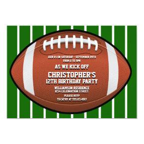 Child's Football Birthday Party Invitations