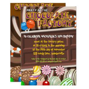 Chocolate Factory/Candyland Party Invite Template