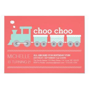 Choo Choo Train Invitations