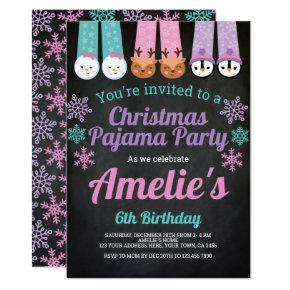Christmas Pajama Party Invitation