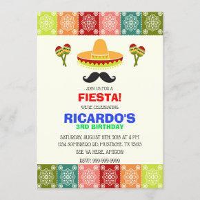 CINCO DE MAYO FIESTA BIRTHDAY BOY INVITATION