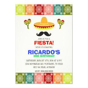CINCO DE MAYO FIESTA BIRTHDAY BOY INVITATION