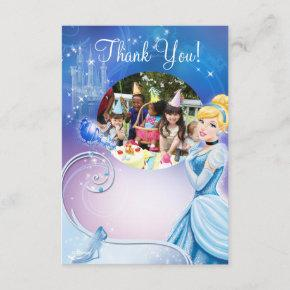Cinderella 3 Birthday Thank You Invitations