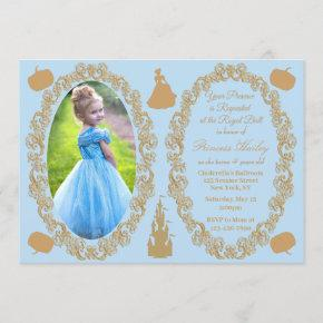 Cinderella Birthday Party Photo Invitation