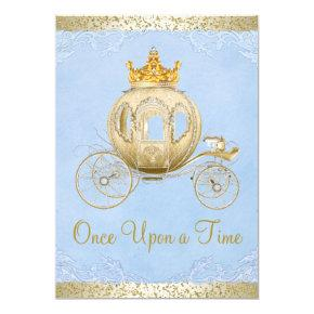 Cinderella Blue Once Upon a Time Princess Birthday Card