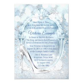 Cinderella Glass Slipper Any Number Birthday Party Invitation