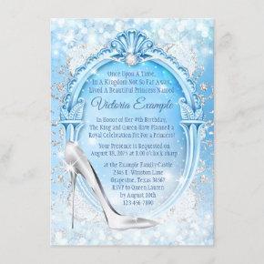 Cinderella Glass Slipper Quinceanera Invitation