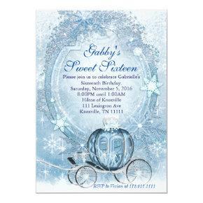 Cinderella Invitation, Cinderella Sweet Sixteen Invitation
