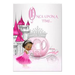 Cinderella Once Upon a Time Princess Birthday Invitations