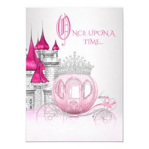 Cinderella Once Upon a Time Princess Birthday Invitations