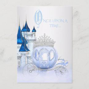 Cinderella Princess Birthday Invitation