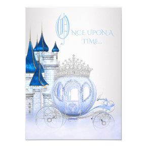 Cinderella Princess Birthday Invitations