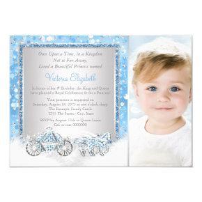 Cinderella Princess Birthday Party Invitations