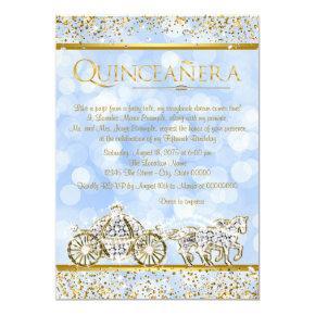 Cinderella Princess Horse Carriage Quinceanera Invitation