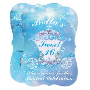 Cinderella Sweet 16 Birthday Invitations Candied Clouds