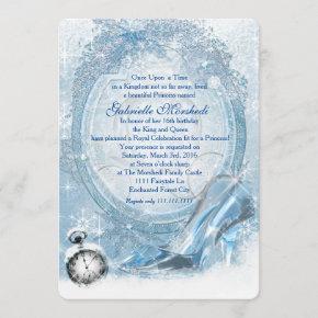 Cinderella Sweet 16 Invitation