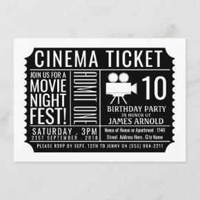 Cinema Ticket , Children's Movie Birthday Party Enclosure