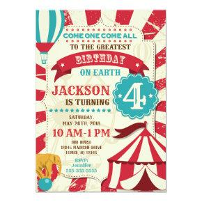 Circus Birthday Invitations Carnival Invite