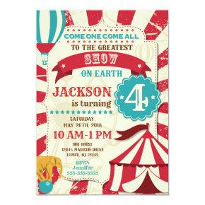 Circus Birthday Invitation / Carnival Invite /Show