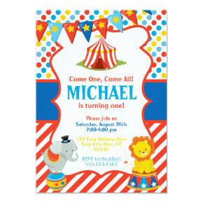 Circus Birthday Invitation - Carnival Theme