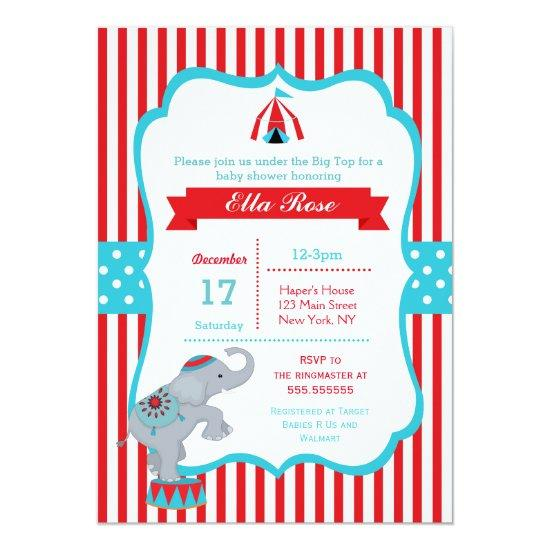Circus Carnival Big Top Baby Shower