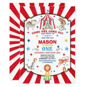 Circus Carnival Birthday Invitation Circus Party