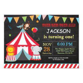 Circus Carnival Birthday Party Invitation