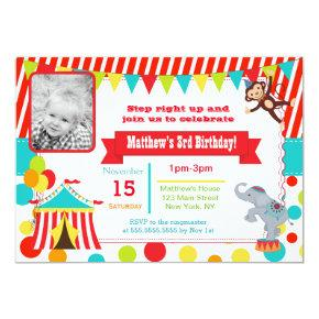 Circus Carnival Photo Birthday Party