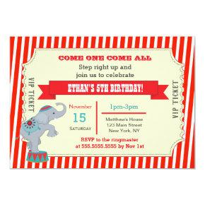 Circus Carnival Ticket Birthday Party